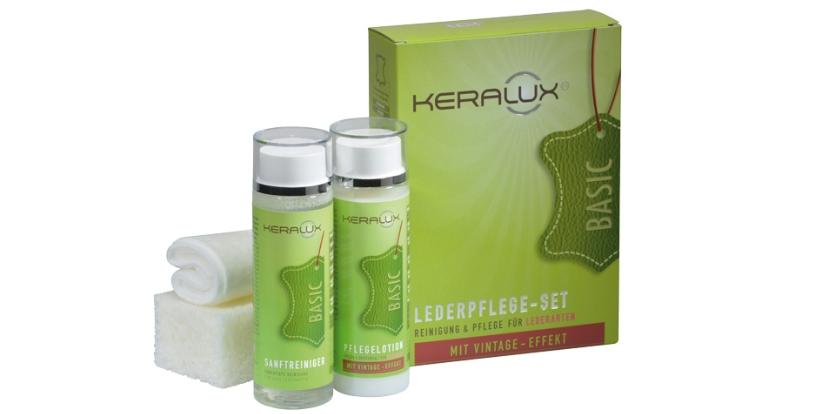 KERALUX® Lederpflege-Set für Lederarten mit Vintage-Effekt 3096 von LCK