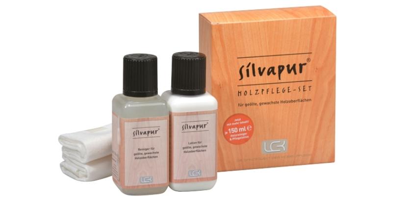 SILVAPUR Holzpflege-Set für geölte, gewachste Holzoberflächen 501035 von LCK